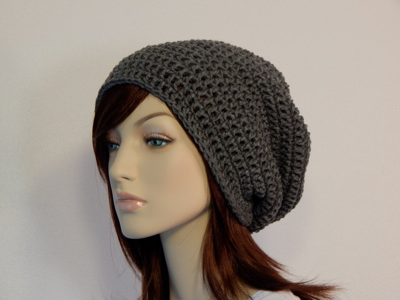 2a89a5f08ce Color Choices Hipster Extra Slouch Hat Gray Slouchy Beanie