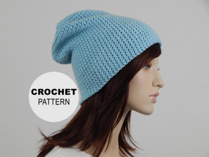 546479d6398 Crochet PATTERN PDF The Shores Slouch Beanie Womens Slouchy