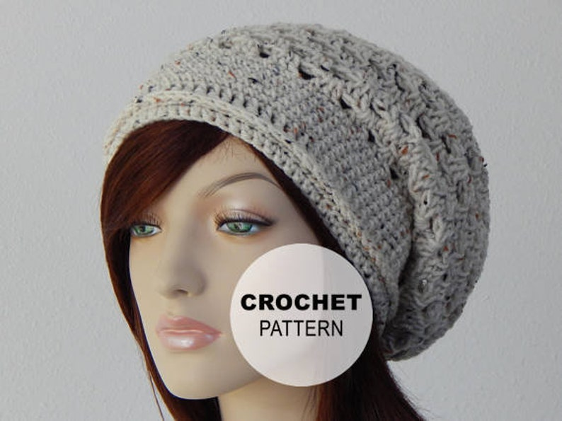 e4528827930 Crochet PATTERN PDF The Spring Slouch Beanie Slouchy Hat