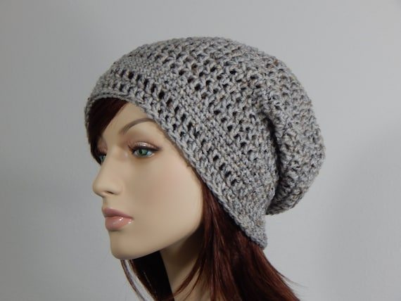 1608323cb7a Gray Marble Slouch Hat Grey Slouchy Beanie Gray Womens Hat