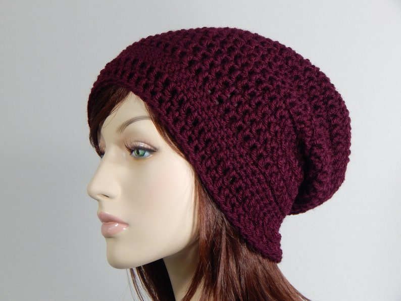 a220aa667d5b2 Burgundy Slouch Hat Burgundy Slouchy Beanie Womens Hat Teen