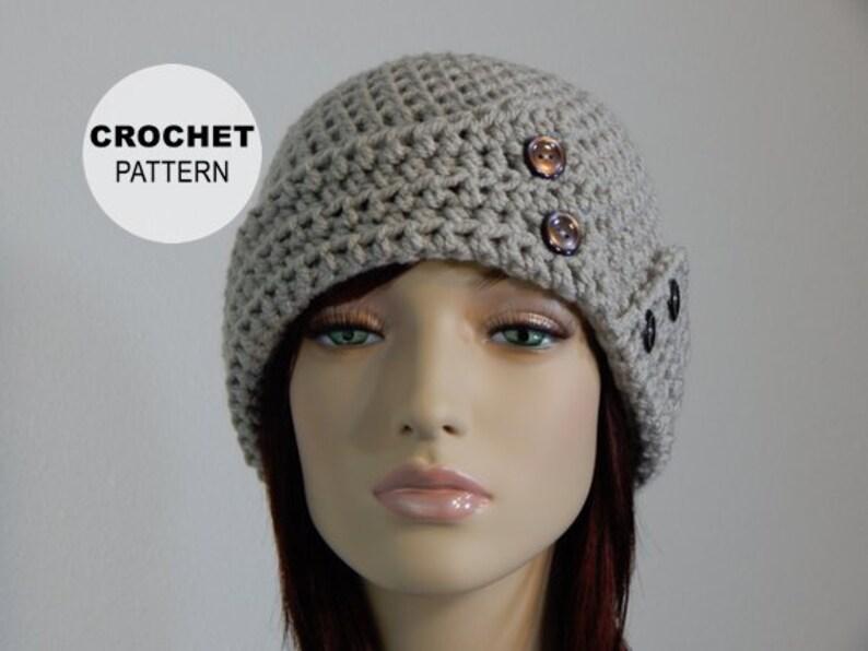 d54a73a38ed Crochet PATTERN PDF The Lovie Hat Womens Winter Hats Ladies