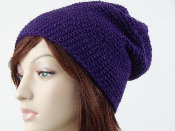 c84a1d0fb41 Purple Slouch Hat Moldable Purple Slouchy Beanie Purple