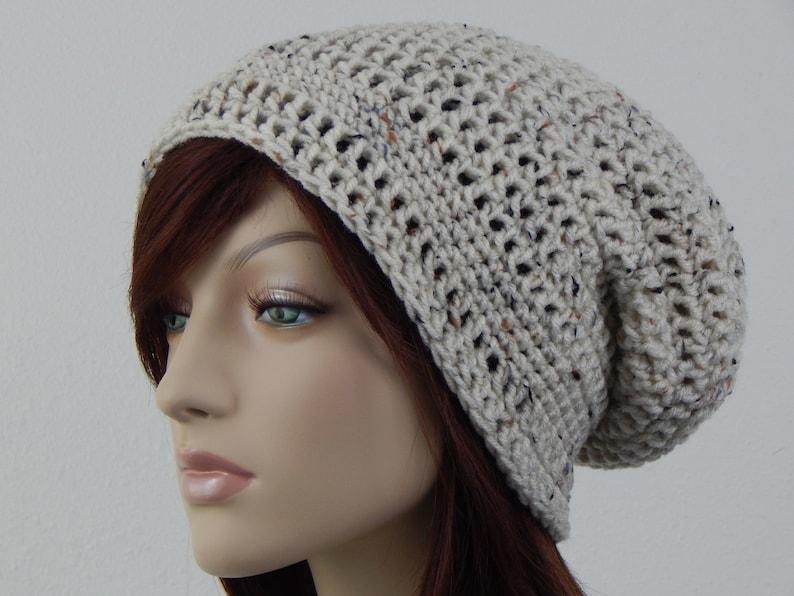 7f06334846a Oatmeal Slouch Hat Oatmeal Cream Slouchy Beanie Womens Hat