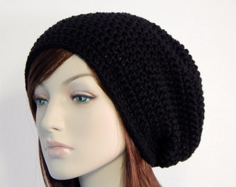Choose Color, Mens, Womens, Extra Slouchy Hat, Slouchy Beanie, Womens Hat, Mens Hat, Hipster Beanie, Boho Chic, Black Slouchy Beanie