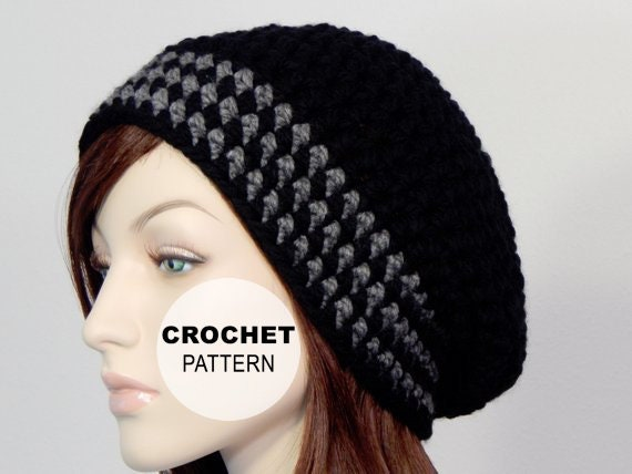 Crochet Pattern Pdf The Lilah Slouch Beanie Bulky Slouchy Etsy