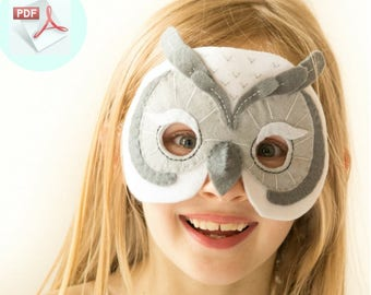 Owl Mask PATTERN.