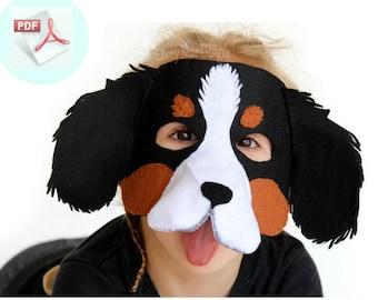 Dog Mask PATTERN // DIY Felt Animal Mask // Party Mask Sewing Pattern.