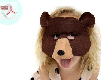 Bear Mask PATTERN.