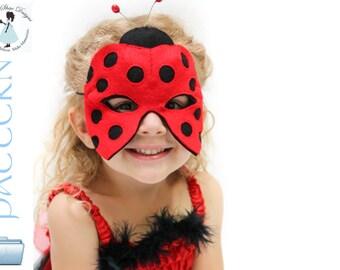 Ladybug Mask Pattern.  Felt Ladybird Mask.