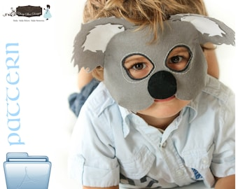 PDF PATTERN.  Kids Koala Mask/Costume.