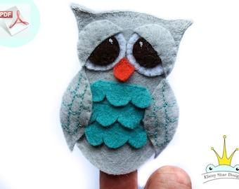 Owl Finger Puppet PATTERN