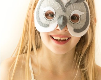 Owl Mask PATTERN. Owl Party Mask Sewing Pattern.
