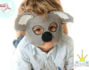 Koala Mask Pattern.