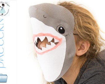 Kids Shark Mask PATTERN.  Digital Sewing Pattern- Kids Shark Costume