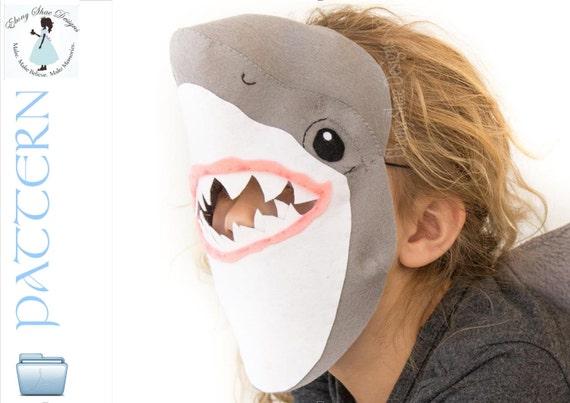 Kids Shark Mask PATTERN. Digital Sewing Pattern Kids Shark | Etsy