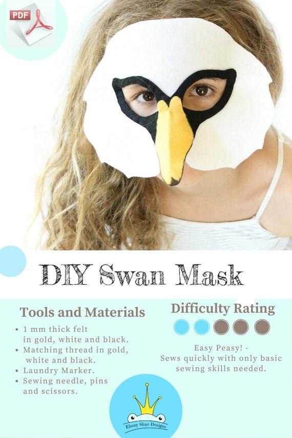 Swan Mask PATTERN. Kids Animal Mask Sewing Pattern. DIY Party | Etsy