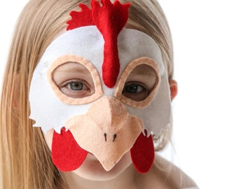 Hen Mask PATTERN.  Digital Sewing Pattern for kids Chicken costume.