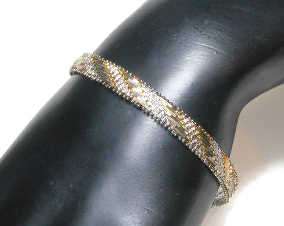 Milor reversible bracelet, two tone sterling silver 925 bracelet with gold overlay accents, made in Italy