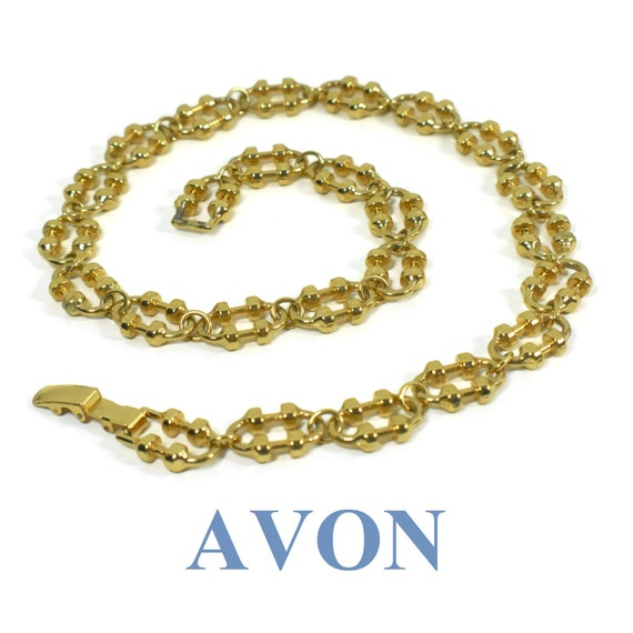 Avon 1970's 'Versatile Links' necklace, chain link necklace with oval links, chunky decorative links