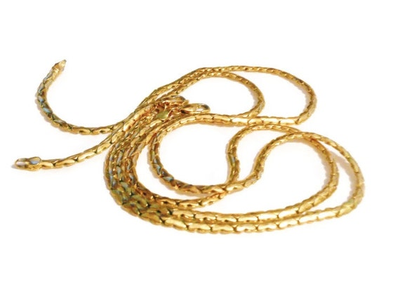 Pair B.C. Lind chain necklaces 14K Ge layering with lobster clasp