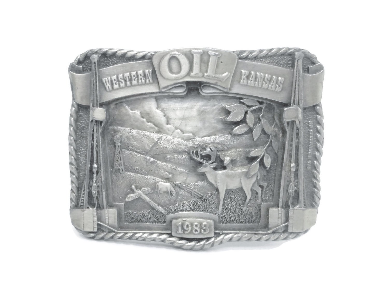 Kansas Oil belt buckle, Western Kansas 1983, limited edition