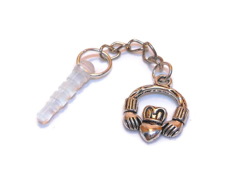Party gifts set of 5 Claddagh phone charm Irish good luck image 0
