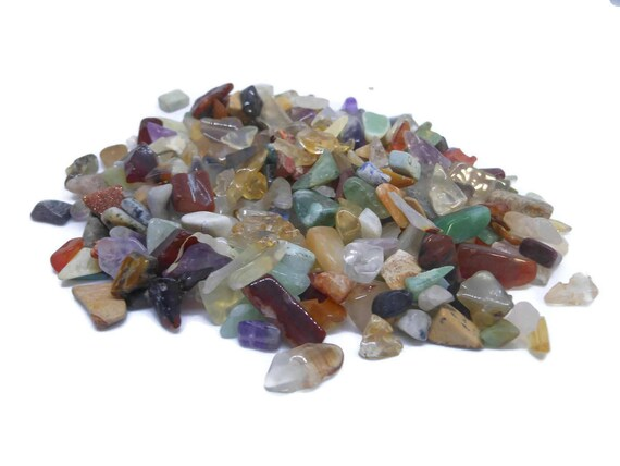 Embellishment mix, multi-gemstone (natural / heated), small to medium undrilled chip. Sold per 50-gram pkg, approximately 900 embellishments