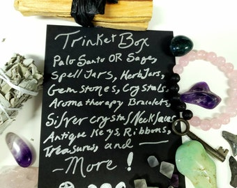 Witchcraft Box of Trinkets! Jewelry, Herbs, Spell Jars and More!