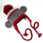 Baby Sock Monkey Hat, Newborn Beanie with Pom-Pom