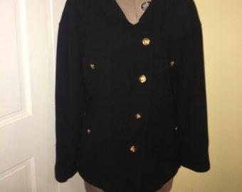 9549af5799f7 Vintage Authentic Chanel Black Blazer 70's