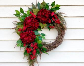Red Door Wreath Etsy