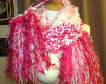 knit scarf, art scarf, drop stitch scarf, womens scarf, soft knitted scarf, lightweight scarf, long knit scarf, boho scarf, gifts for her