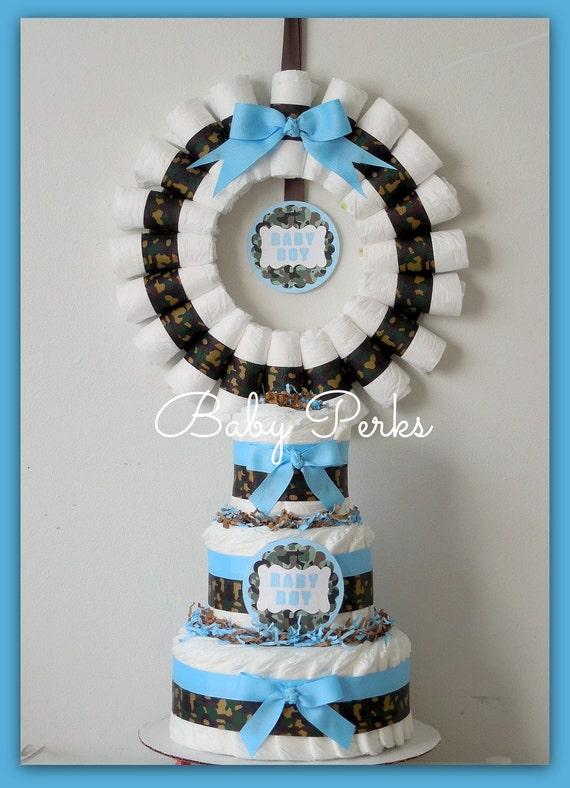 Items similar to Camouflage Diaper cake Camo Diaper cake