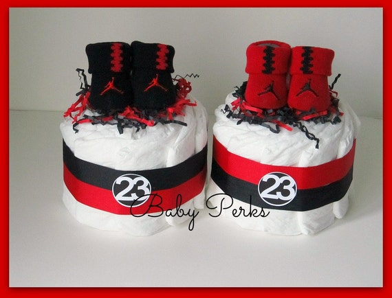 Air Jordan Diaper Cake Any Colors Baby Shower Decorations Etsy