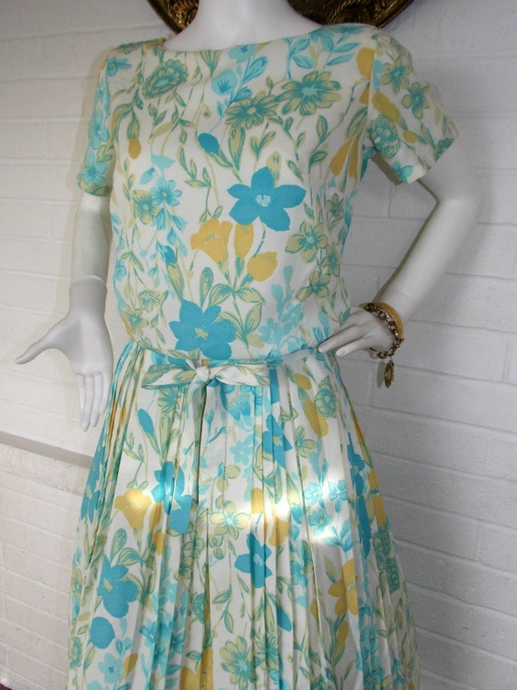 1950's - 1960's Floral Day Dress