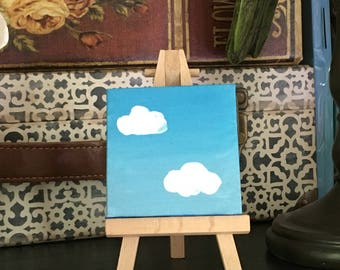 Cute cloud painting
