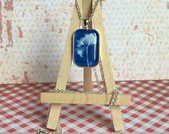 Cyanotype print pendent