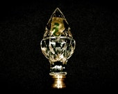 Waterford Acorn Finial Crystal with Brass Ireland