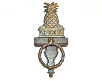Classic Pineapple Door Knocker Midwest Cannon Falls Base And Topper Both