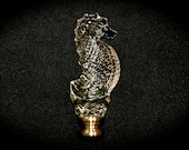 Waterford Seahorse Finial Crystal with Brass Ireland