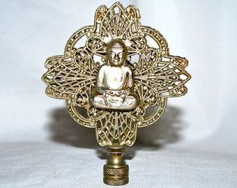 Big Buddha Finial with Filigree and Decorative Wisdom