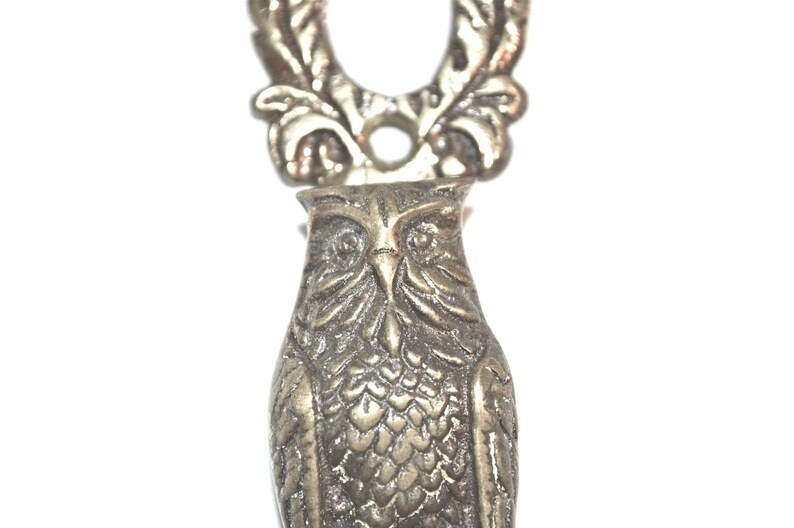 Sweet Owl British Brass Door Knocker Whoooo/'s There?