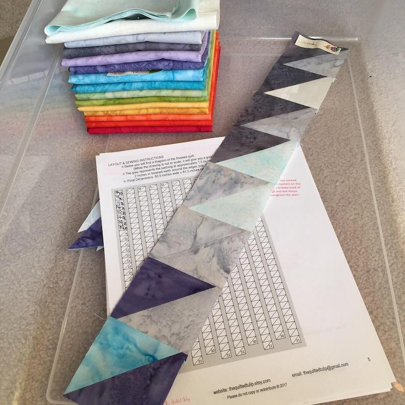 PDF Pattern Weather Temperature Blanket Quilt Along Temperature Quilt Pattern by The Quilted Tulip