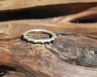 Sterling silver Contemporary Ring. Handmade. Minimal Design