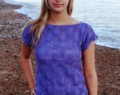Apple Leaves Summer Top Knitting Pattern (PDF File)