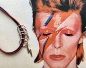 David Bowie Aladdin Sane inspired Lightning Bolt Sterling Silver Stitch Markers