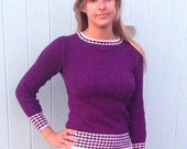 Purple Lightweight Sweater Knitting Pattern (PDF File)
