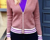 Baseball Jacket Knitting Pattern (PDF File)