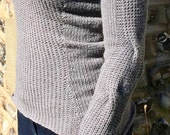 Tailored Rib Sweater Knitting Pattern (PDF File)